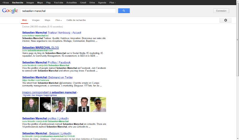 Recheche Google sur Sebastien Marechal