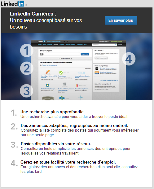 LinkedIn Recherche d'emploi