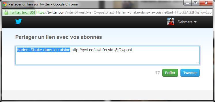 Qwant partage sur Twitter