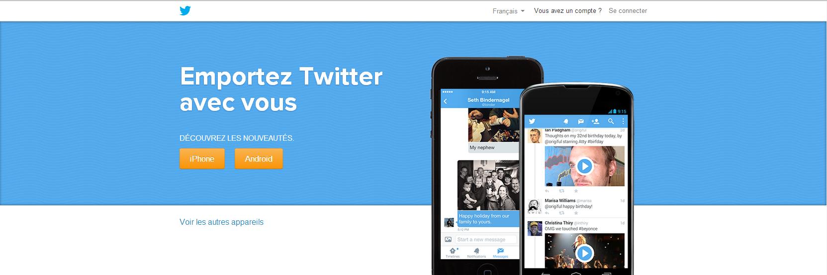 Amélioration de l'application Twitter